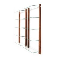 DVD Storage and DVD shelves in cherry walnut ash t