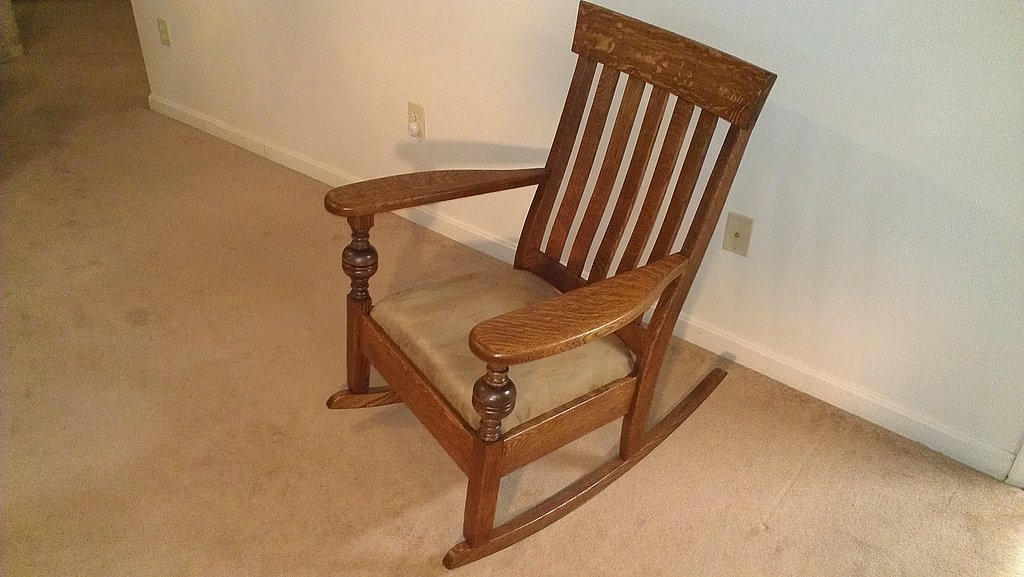 wood rocking chair styles oversized chaise lounge chairs indoor mission style woodbin fully restored
