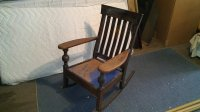 Mission Style Rocking Chair  WoodBin