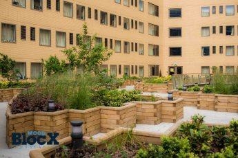 WoodBlocX roof garden at London Unite