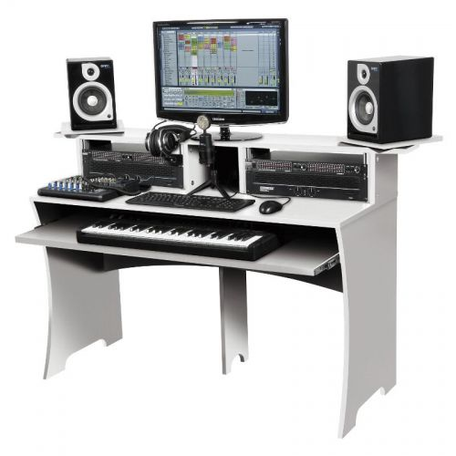 glorious dj workbench white glorious dj workbench white mobilier de studio workstation