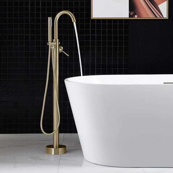 hand shower in brushed gold finish
