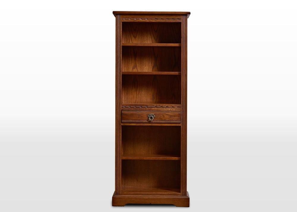 Old Charm Narrow Bookcase Wood Bros