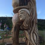 Beeld gemaakt in Duitsland Thuringerwald als onderstel voor een paviljoen Inspiratie Jeroen Bosch