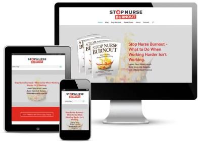 Stop Nurse Burnout Website Design