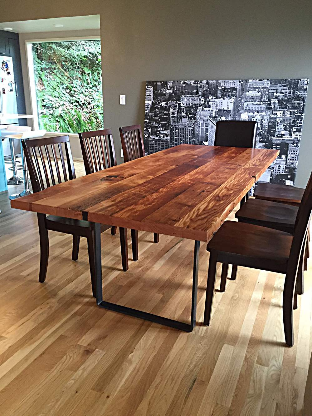 wooden kitchen table modern cart learn more about woodcraft s reclaimed wood dining tables