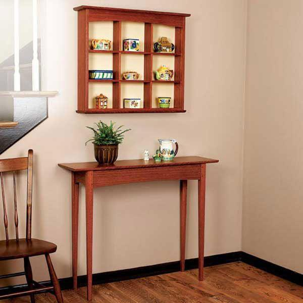Curio Shelf and Hall Table Woodworking Plan
