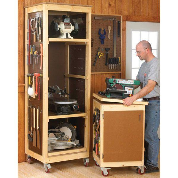 Built In Storage Cabinet Plans: Build DIY Free Woodworking Plans Storage Cabinets Plans
