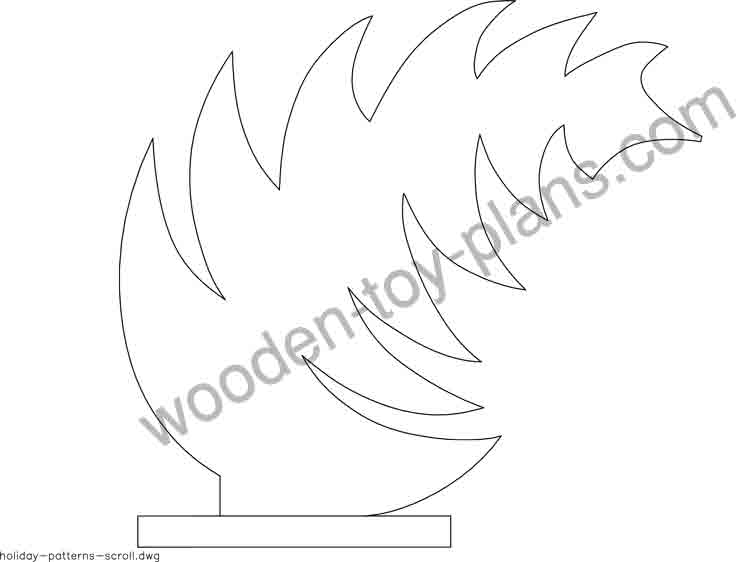 Simple Christmas scroll saw patterns free printable for