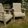 Bespoke chunky garden chairs the wooden workshop bampton devon