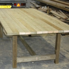 Collapsible Kitchen Table Wooden Set Garden Tables | The Workshop Oakford, Devon