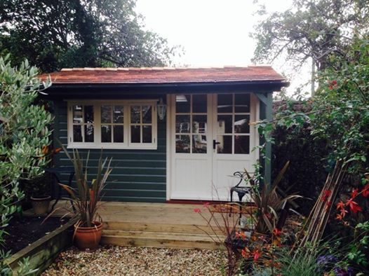 Cedar Tiled Garden Studio  The Wooden Workshop  Oakford