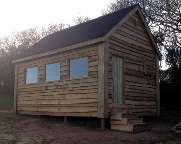 Waney Edge Wood Cabin Wooden Workshop Oakford Devon