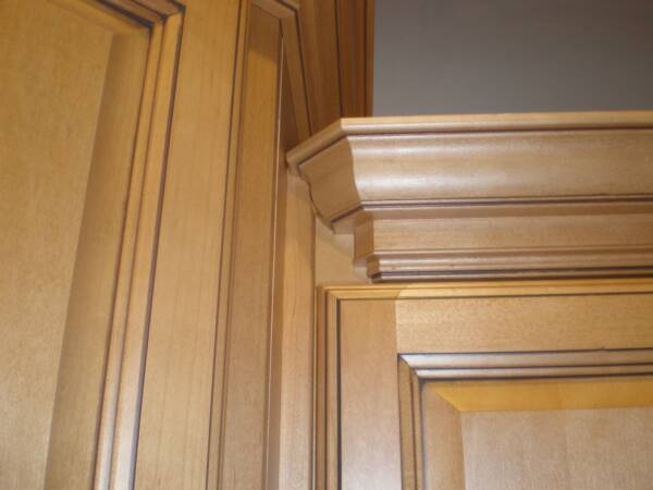 Painted Crown Molding On Kitchen Cabinets