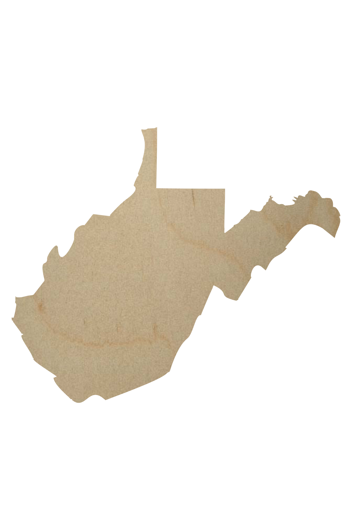 West Virginia State Wood Shape