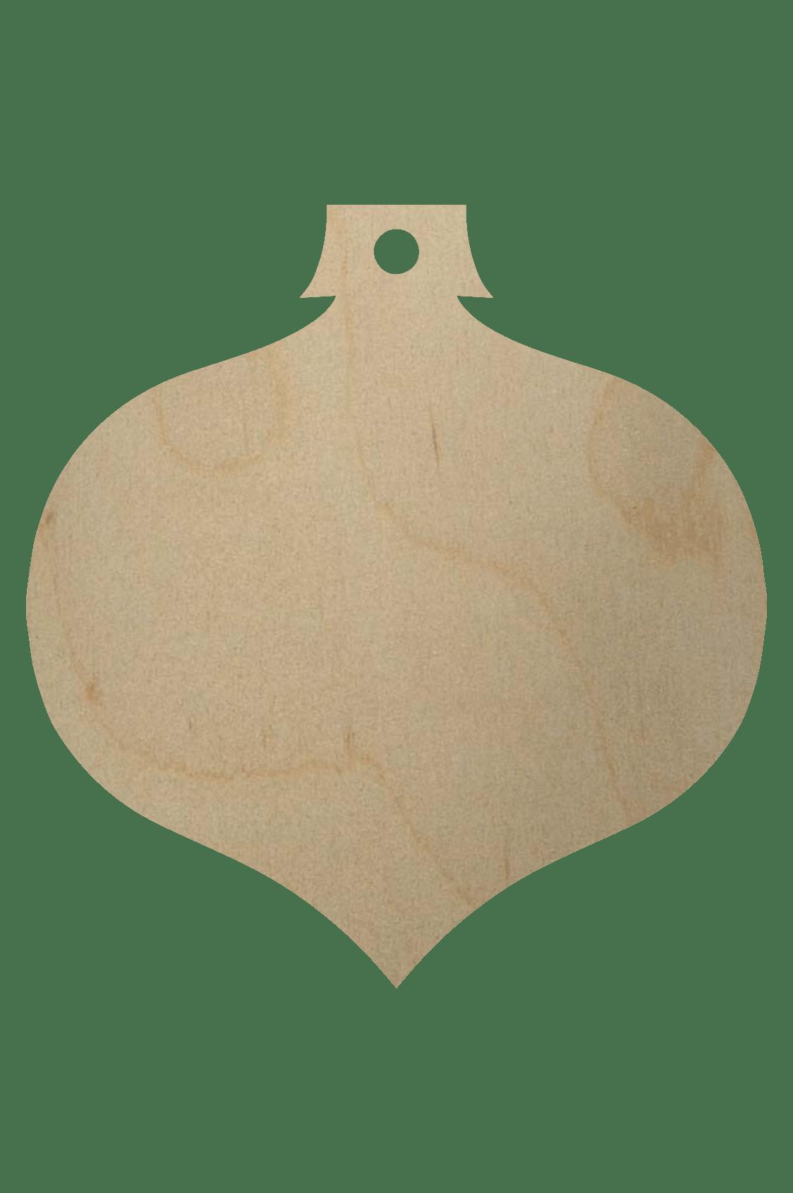 wooden christmas ornament shape