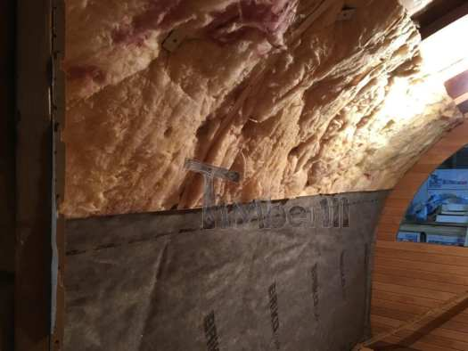 The Installation Of Mineral Wool And The Vapor Layer From The Inside Of Sauna