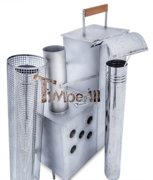 Wood fired hot tub heater - Snorkel Model