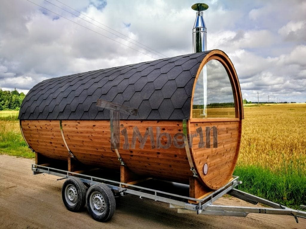 Mobile-outdoor-barrel-sauna-for-sale Finished projects