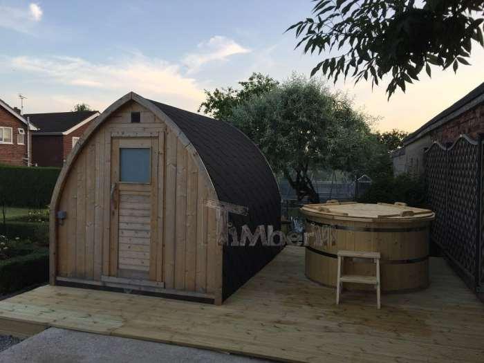 Igloo-outdoor-sauna-and-wood-fired-wooden-hot-tub-Philip-Selston-UK-1-700x525 Igloo outdoor sauna and wood-fired wooden hot tub, Philip, Selston, UK