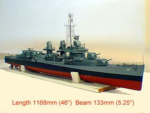 Deans Marine USS Kidd Ship Kit, RC Ready - WoodenModelShipKit