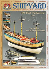 HM Bark Endeavour 1:96 - Shipyard MK004 - Paper Model