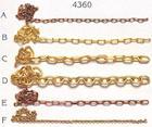 AM4360/05 Amati Brass Chain 4mm 1mtr - C