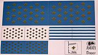 5700/07 Bomb Ketch Flag set