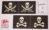 5700/09 Pirate Ship Flag set