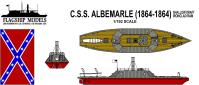 Flagship Models CSS Albemarle Shallow Draft Ironclad
