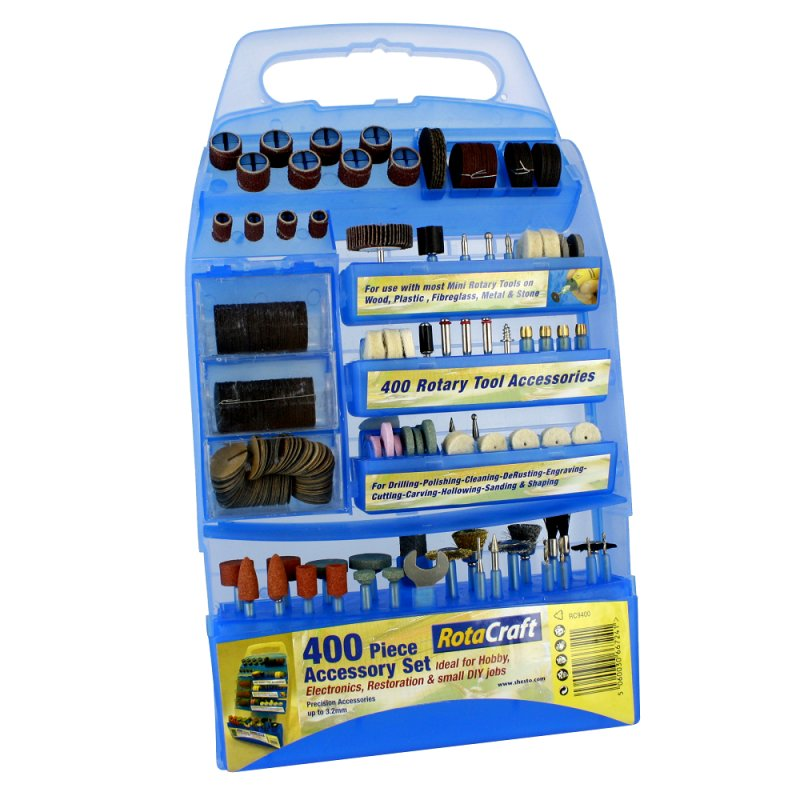 Rotacraft 400 Piece Accessory Kit For Rotary Tools RC9400 Will Fit Dremel