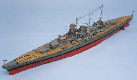 SCHARNHORST Battleship and Fittings Set