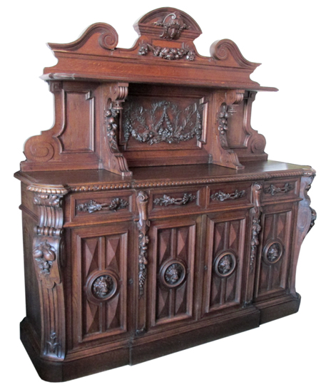 victorian parlor chairs bliss hammock chair reviews carved european sideboard - wooden nickel antiques