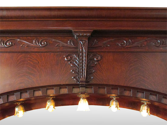 Single Arched Back Amp Front Bar Wooden Nickel Antiques