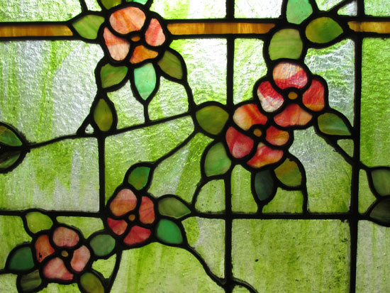 Green Stained Glass Window Wooden Nickel Antiques