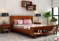 Double Bed : Buy Wooden Double Bed Online Upto 55% off ...