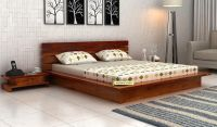 Buy Dwayne Low Floor Platform Bed (King Size, Honey Finish ...