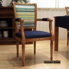 Wooden Chairs With Arms India Vanity Chair White Arm Buy Online In At Low Price