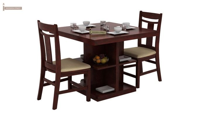 2 seater kitchen table set discount supplies buy ralph dining with storage mahogany finish online 1