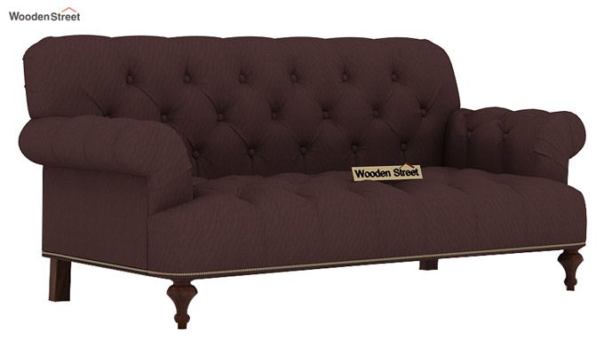 velvet sofa fabric online india best air bed buy allison 2 seater classic brown in 1