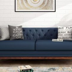 Sofa Sets At Low Price In Hyderabad Large Cushion Covers Uk Furniture Store With Off Upto 55 Wooden Street Berlin 3 Seater Fabric Indigo Ink