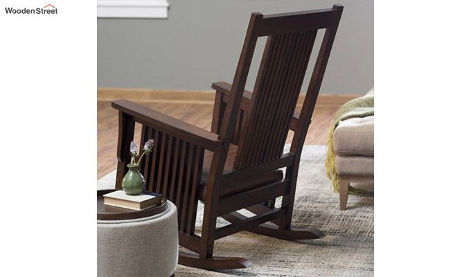 floor rocking chair india sturdy folding chairs buy logan walnut finish online in wooden street 1