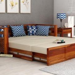 72 Inch Sofa Bed Folding Futon Sleeper By Homcom Buy Vigo Cum (king Size, Honey Finish) Online In ...