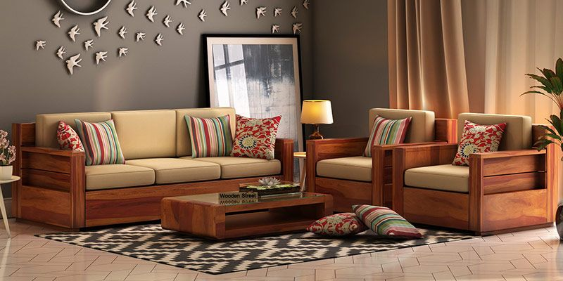sofa designs for small living room india french country decorated rooms wooden set buy online in upto 55 off pictures