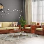 Buy Marriott Wooden Sofa Set Honey Finish Online In India Wooden Street