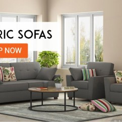 Leather Vs Fabric Sofa India Danish Modern Legs Set Buy स फ Online In Off Upto 55