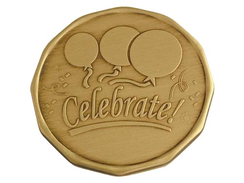 Celebrate RecoveryAffirmation Medallion  Bronze Tokens