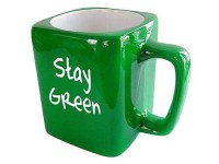 Stay Green Coffee Cup - Unique 12 step recovery themed ...