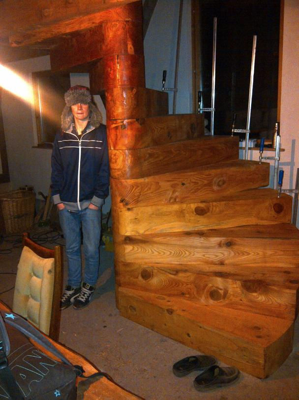 Solid Spiral Staircase  Woodenways