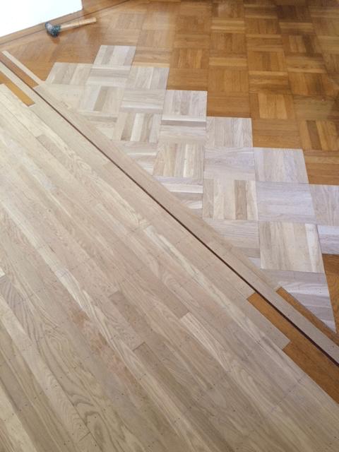 Repairing a TopNail Parquet Floor  Wood Floor Business